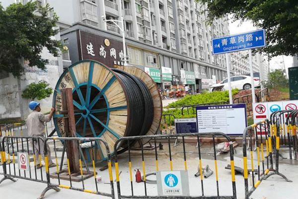 深圳供电局宝安沙井长流陂站组网工程