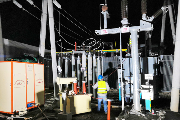 广西桂林110kV白沙变电站试验